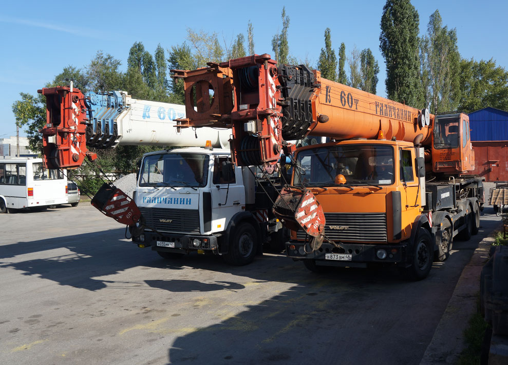 Truck cranes and handling devices (up to 60 tons)